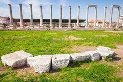 Ruinas de la ciudad antigua Smyrna Esmirna, Turquía Fotografía de archivo libre de regalías