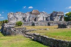 Ruinas de la ciudad antigua Tulum, Mexi del maya fotografía de archivo