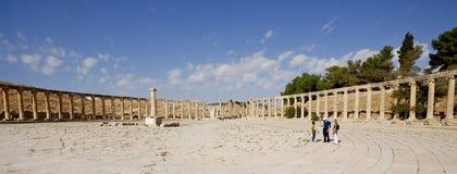 Ruinas de la ciudad arqueológica famosa de Jerash en Jordania Fotografía de archivo