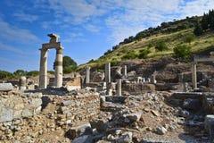 Ruinas de la ciudad Ephesus del griego clásico imágenes de archivo libres de regalías