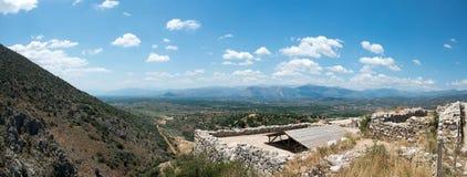 Ruinas de la ciudad Mycenae del griego clásico imágenes de archivo libres de regalías