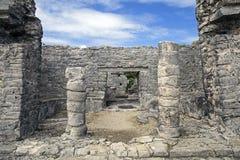 Ruinas de la ciudad de Tulum Imágenes de archivo libres de regalías