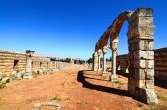 Ruinas de la ciudad de Umayyad de Anjar Imagen de archivo