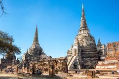 Ruinas de la ciudad vieja de Ayutthaya, Tailandia Fotos de archivo libres de regalías