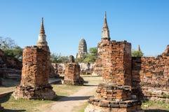 Ruinas de la ciudad vieja de Ayutthaya, Tailandia Foto de archivo libre de regalías