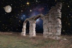 Ruinas de la ciudad y del espacio romanos Foto de archivo