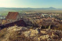 Ruinas de la ciudadela de Rasnov foto de archivo