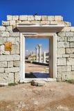 Ruinas de la colonia Khersones del griego clásico Imágenes de archivo libres de regalías