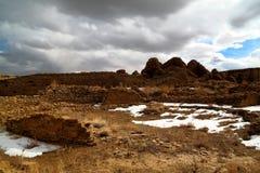 Ruinas de la cultura de Chaco Foto de archivo libre de regalías