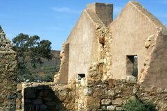 Ruinas de la estación de Kanyaka, gamas del Flinders, sur de Australia foto de archivo libre de regalías