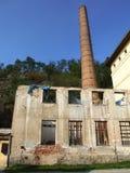 Ruinas de la fábrica vieja en Trebic Foto de archivo libre de regalías