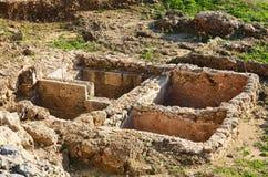 Ruinas de la fortaleza de los cruzados en Israel Imagenes de archivo