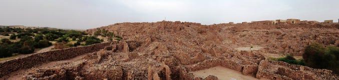 Ruinas de la fortaleza de Ouadane en Sahara Mauritania foto de archivo libre de regalías