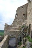 Ruinas de la fortaleza de Rupea Foto de archivo