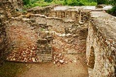 Ruinas de la fortaleza de Suceava Foto de archivo libre de regalías