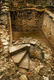 Ruinas de la fortaleza de Suceava Fotos de archivo libres de regalías