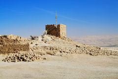 Ruinas de la fortaleza Masada Foto de archivo