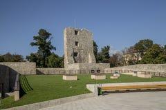 Ruinas de la fortaleza medieval en Drobeta Turnu-Severin Foto de archivo libre de regalías