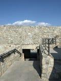 Ruinas de la fortaleza medieval en Drobeta Turnu Severin Fotografía de archivo
