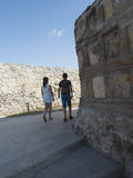 Ruinas de la fortaleza medieval en Drobeta Turnu Severin Fotografía de archivo libre de regalías