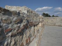 Ruinas de la fortaleza medieval en Drobeta Turnu Severin Foto de archivo