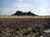 Ruinas de la fundición del oro de Aruba Bushiribana con desear rocas Imágenes de archivo libres de regalías