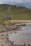 Ruinas de la granja de Ardvreck del castillo, Escocia Fotografía de archivo libre de regalías