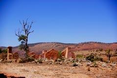Ruinas de la granja de Kanyaka fotos de archivo