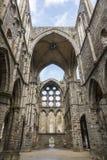 Ruinas de la iglesia de la abadía del Villers-la-ville Foto de archivo libre de regalías