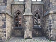Ruinas de la iglesia de San Nicolás en Hamburgo fotos de archivo