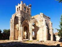 Ruinas de la iglesia de Santa Eulalia en Palenzuela Foto de archivo libre de regalías