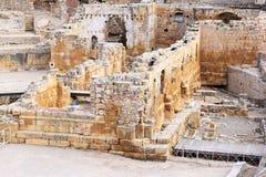 Ruinas de la iglesia del Romanesque en Tarragona, España Fotos de archivo