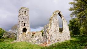 Ruinas de la iglesia del ` s de San Martín Imagen de archivo