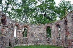 Ruinas de la iglesia desde adentro Imagen de archivo