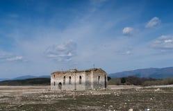 Ruinas de la iglesia ortodoxa del este vieja del santo Ivan Rilsk Ab Fotografía de archivo