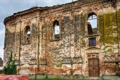 Ruinas de la iglesia ortodoxa servia del Espíritu Santo que fue construido en 1814 y quemó en la Segunda Guerra Mundial fotografía de archivo libre de regalías