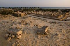 Ruinas de la mezquita magnífica en el Al Balid foto de archivo