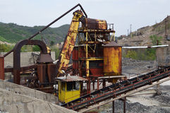 Ruinas de la mina de metal vieja y de la fábrica metalúrgica Imagen de archivo