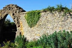 Ruinas de la pared de la abadía de Evesham Fotografía de archivo libre de regalías