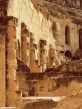 Ruinas de la pared en el âEl Djemâ Túnez Foto de archivo