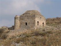 Ruinas de la piedra en Corinto, Grecia Foto de archivo