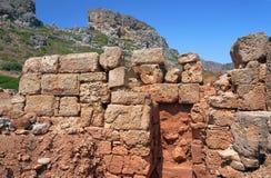 Ruinas de la piedra en las montañas Fotografía de archivo