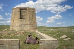 Ruinas de la planta de la potasa en Antioch, Nebraska Fotografía de archivo libre de regalías
