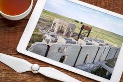 Ruinas de la planta de la potasa en Antioch, Nebraska Imágenes de archivo libres de regalías