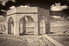Ruinas de la planta de la potasa en Antioch, Nebraska Fotografía de archivo