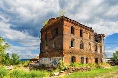 Ruinas de la planta metalúrgica vieja Fotografía de archivo libre de regalías