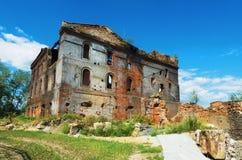 Ruinas de la planta metalúrgica vieja Imagen de archivo libre de regalías