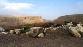 Ruinas de la sinagoga en el soporte Arbel Foto de archivo libre de regalías