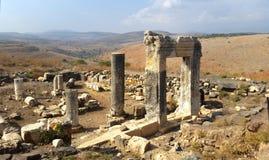 Ruinas de la sinagoga en el soporte Arbel Fotografía de archivo libre de regalías