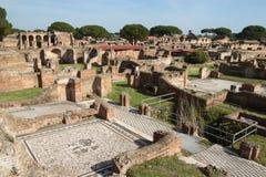 Ruinas de los antica de Ostia Imágenes de archivo libres de regalías